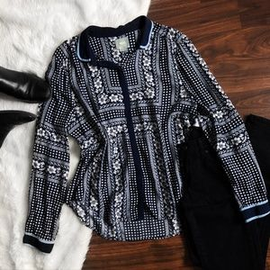 Anthropologie Maeve Art House Button-down Top
